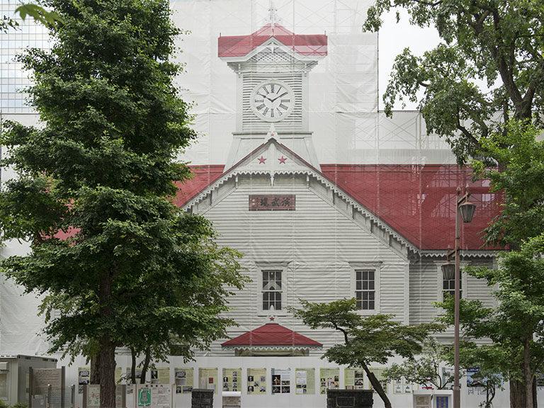 札幌時計台の改修工事
